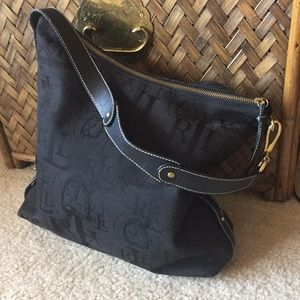 Lauren Ralph Lauren Canvas Logo Print Shoulder Bag